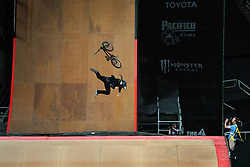 July 20, 2018 - Minneapolis, MN, USA - Zack Warden lost control of his bike as he competed in The Real Cost BMX Big Air Final Friday. ] ANTHONY SOUFFLE • anthony.souffle@startribune.com ....Athletes competed in the annual XGames Friday, July 20, 2018 at U.S. Bank Stadium in Minneapolis. (Credit Image: © Anthony Souffle/Minneapolis Star Tribune via ZUMA Wire)
