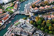 Nederland, Zeeland, Schouwen-Duiveland, 28-10-2014; Zierikzee met Zuidhavenpoort.<br /> Zierikzee, located on the island of Schouwen, Zealand.<br /> luchtfoto (toeslag op standard tarieven); aerial photo (additional fee required); <br /> copyright foto/photo Siebe Swart