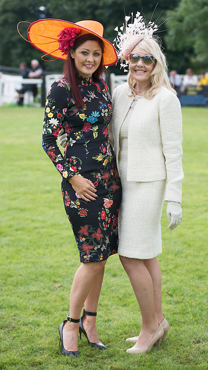 18/08/2016 repro free  Best Dressed Judge Mandy Maher from Catwalk Models and Runner up Lisa Burell from Florida  at the 93rd annual Connemara Pony show in Clifden Co. Galway was Josephine Wallace, from Clifden. Photo:Andrew Downes, XPOSURE