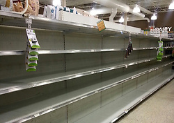 September 5, 2017 - St. Petersburg, Florida, U.S. - Water was completely sold out at the Publix at Northeast Park Shopping Center on Monday morning in St. Petersburg as residents prepare for a possible hit by Hurricane Irma, which hsa become a Category 5 with sustained winds of 180 miles per hour. That means Irma now ranks among the most powerful hurricanes (as measured by windspeed) ever recorded. (Credit Image: © Karen Pryslopski/Tampa Bay Times via ZUMA Wire)