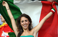 Fans of Italy before the UEFA EURO 2008 Quarter-Final soccer match between Spain and Italy at Ernst-Happel Stadium, on June 22,2008, in Wien, Austria.  (Photo by Vid Ponikvar / Sportal Images)
