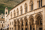 Arches and columns at the Rectors Palace and Cultural History Museum, old town Dubrovnik, Dalmatian Coast, Croatia