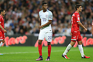 Marcus Rashford of England looking on. FIFA World cup qualifying match, european group F, England v Malta at Wembley Stadium in London on Saturday 8th October 2016.<br /> pic by John Patrick Fletcher, Andrew Orchard sports photography.