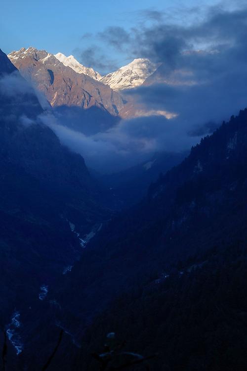 Dudh Khola Valley in the Gorkha region of Nepal.