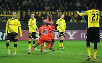 Fotball<br /> Tyskland<br /> 06.12.2011<br /> Foto: Witters/Digitalsport<br /> NORWAY ONLY<br /> <br /> 2:2 Jubel v.l. Jakub Kuba Blaszczykowski, Ivan Perisic, Andrew Ayew, Souleymane Diawara, Lukasz Piszczek, Felipe Santana (Dortmund)<br /> Champions League, Gruppenphase, Borussia Dortmund - Olympique Marseille 2:3