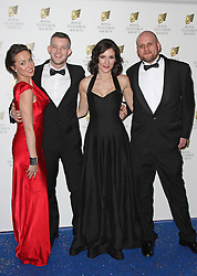 © Licensed to London News Pictures. 17/03/2015, UK. Kerry Howard, Russell Tovey, Sarah Solemani & Ricky Champ, Royal Television Society Programme Awards, Grosvenor House Hotel, London UK, 17 March 2015. Photo credit : Brett D. Cove/Piqtured/LNP