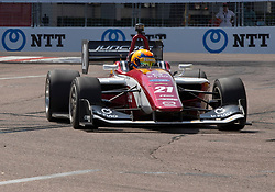 March 9, 2019 - St. Petersburg, FL, U.S. - ST. PETERSBURG, FL - MARCH 09: Rinus VeeKay (21) during the Indy Lights Race of St. Petersburg on March 9 in St. Petersburg, FL. (Photo by Andrew Bershaw/Icon Sportswire) (Credit Image: © Andrew Bershaw/Icon SMI via ZUMA Press)