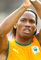 Photo: Steve Bond/Richard Lane Photography.<br />Nigeria v Ivory Coast. Africa Cup of Nations. 21/01/2008. Didier Drogba applauds the fans