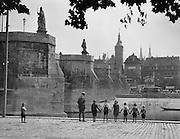 Group of Children Holding Hands, Alte Mainbrücke, Würzburg, Bavaria, 1925