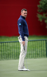 Europe's Andriy Shevchenko during a celebrity golf match ahead of the 41st Ryder Cup at Hazeltine National Golf Club in Chaska, Minnesota, USA.