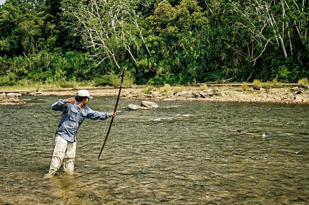Bowfishing sequence.