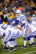Peyton Manning of the Indianapolis Colts during a 24-20 win over Pittsburgh on Sunday, Nov. 9, 2008 in Pittsburgh.