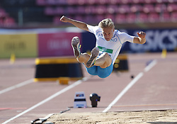 July 10, 2018 - Tampere, Suomi Finland - 180710 Friidrott, Junior-VM, Dag 1: Juuso Toivonen FIN competes in men's Decathlon Long jump during the IAAF World U20 Championships day 1 at the Ratina stadion 10. July 2018 in Tampere, Finland. (Newspix24/Kalle Parkkinen) (Credit Image: © Kalle Parkkinen/Bildbyran via ZUMA Press)