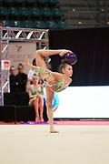 Gaia Garaffolo from Eurogymnica Torino team during the Italian Rhythmic Gymnastics Championship in Bologna, 9 February 2019.