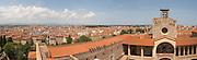 Palais des Rois de Majorque, Palace of the Majorca Kings. View over the city. Perpignan, Roussillon, France.