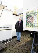 Geschlossene Gesellschaft - Schausteller Manfred Pluschies, Billwerder, Deutschland, 16. April 2021<br /> <br /> PICTURED: Fahrgeschäfte, Weihnachtsmark Häuschen und Deko im Lager