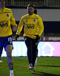 Josh Barrett of Bristol Rovers prior to kick off- Mandatory by-line: Will Cooper/JMP - 18/11/2020 - FOOTBALL - Memorial Stadium - Bristol, England - Bristol Rovers v Chelsea U21 - Papa John's Trophy