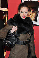 Actress AMY BAILEY at a Private View of Bruno Bisang 30 Years of Polaroids held at The Little Black Gallery, 13A Park Walk, London SW10 on 15th January 2013.