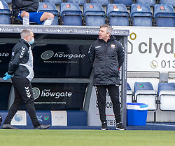 20MAR21 Montrose manager Stewart Petrie.  Falkirk 2 v 0 Montrose, Scottish Football League Division One game played 20/3/2021 at The Falkirk Stadium.