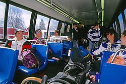 Wheel Chair Marathoners Riding Out To Hopkinton, Boston Marathon 1994