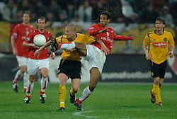 09-05-2007 VOETBAL: PLAY OFF: UTRECHT - RODA: UTRECHT<br /> In de play-off-confrontatie tussen FC Utrecht en Roda JC om een plek in de UEFA Cup is nog niets beslist. De eerste wedstrijd tussen beide in Utrecht eindigde in 0-0 / Robin Nelisse<br /> ©2007-WWW.FOTOHOOGENDOORN.NL