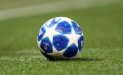 A general view of an Adidas Finale 18 Official Match Ball on the pitch
