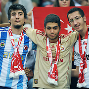 Turkey's supporters during their UEFA EURO 2012 Qualifying round Group A soccer match Turkey betwen Kazakhstan at TT Arena Istanbul September 02, 2011. Photo by TURKPIX