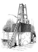 Platinum still for concentrating sulphuric acid. Felling Chemical Works, Newcastle, 1844.  From 'British Manufacturers' by George Dodd. (London, 1844). Wood engraving.
