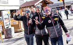 20.02.2019, Seefeld, AUT, FIS Weltmeisterschaften Ski Nordisch, Seefeld 2019, Nordische Kombination Reportage, im Bild Lukas Klapfer (AUT), Bernhard Gruber (AUT), Franz Josef Rehrl (AUT) // Lukas Klapfer of Austria, Bernhard Gruber of Austria, Franz Josef Rehrl of Austria during a Photoseries of Austrian Nordic Combined Team for the FIS Nordic Ski World Championships 2019. Seefeld, Austria on 2019/02/20. EXPA Pictures © 2019, PhotoCredit: EXPA/ JFK