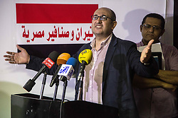 June 11, 2017 - Cairo, Egypt - The lawyer (Khaled Ali) talking at the Conference of the Parties and the National Forces, to refuse discussing the agreement of handing the islands ''Tiran and Sanafir'' to Saudi Arabia at the parliament The conference was attended by a number of public figures and representatives of parties. On 11 June 2017 in Cairo,.. Egypt. (Credit Image: © Ibrahim Ezzat/NurPhoto via ZUMA Press)