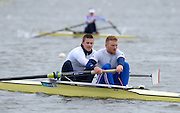 Reading, UNITED KINGDOM. Bow Peter REED and Will SATCH  GBR Media Day, Redgrave and Pinsent Rowing Lake. GB Rowing Training Base, Caversham, Berks. Wednesday   19/03/2014 [Mandatory Credit: Peter Spurrier/Intersport Images]