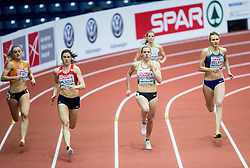 Lisanne de Witte of Netherlands, Zuzana Hejnova of Czech Republic, Lara Hoffmann of Germany and Tetyana Melnyk of Ukraine compete in the Women's 400 metres heats on day one of the 2017 European Athletics Indoor Championships at the Kombank Arena on March 3, 2017 in Belgrade, Serbia. Photo by Vid Ponikvar / Sportida