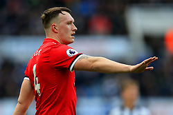 Phil Jones of Manchester United gestures - Mandatory by-line: Matt McNulty/JMP - 11/02/2018 - FOOTBALL - St James Park - Newcastle upon Tyne, England - Newcastle United v Manchester United - Premier League