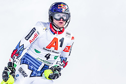 """29.01.2019, Planai, Schladming, AUT, FIS Weltcup Ski Alpin, Slalom, Herren, 2. Lauf, im Bild Alexis Pinturault (FRA) // Alexis Pinturault of France reacts after his 2nd run of men's Slalom """"the Nightrace"""" of FIS ski alpine world cup at the Planai in Schladming, Austria on 2019/01/29. EXPA Pictures © 2019, PhotoCredit: EXPA/ JFK"""