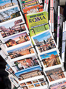 Postcards for sale, Rome, Italy.