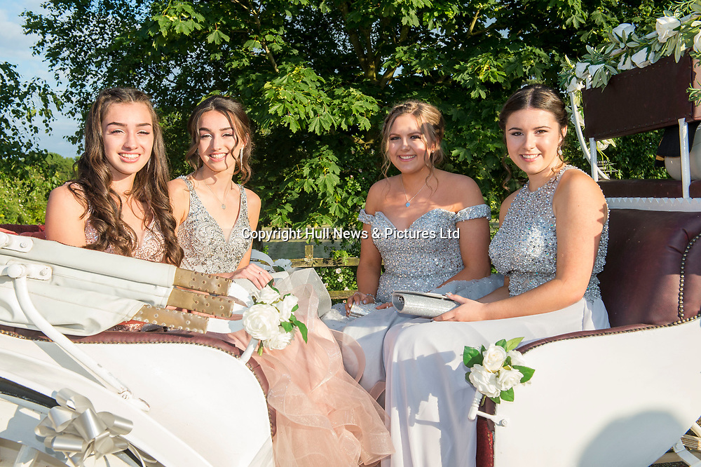 21 JUne 2019: Louth Academy Year 11 Prom at Brackenborough Hotel.<br /> (l-r) Ellie Odlin, Evie Odlin, Tayler Dawson and Lauren Reed.<br /> Picture: Sean Spencer/Hull News & Pictures Ltd<br /> 01482 210267/07976 433960<br /> www.hullnews.co.uk         sean@hullnews.co.uk