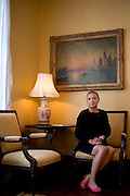 Kimberly Carlisle, former executive director and general counsel for Prime Prep Academy, poses for a portrait at the Belo Mansion in Dallas, Texas on August 6, 2014. (Cooper Neill for The New York Times)