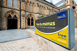 View of the McManus art gallery and museum in Dundee, Tayside, Scotland, UK