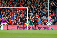 Football - 2016 / 2017 Premier League - AFC Bournemouth vs. Hull City<br /> <br /> Bournemouth's Charlie Daniels opens the scoring smashing home a rebound off the post at Dean Court (The Vitality Stadium) Bournemouth<br /> <br /> Colorsport/Shaun Boggust
