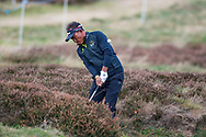 Thongchai Jaidee of Thailand hits the ball out of the rough during the British Masters 2018 at Walton Heath Golf Course, Walton On the Hill, Surrey on 12 October 2018. Picture by Martin Cole.