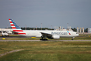 American Airlines Boeing 777-200 (N787AL) ready for takeoff at Milan - Malpensa (MXP / LIMC) Italy