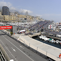 General View of the Monaco Grand Prix racing circuit.