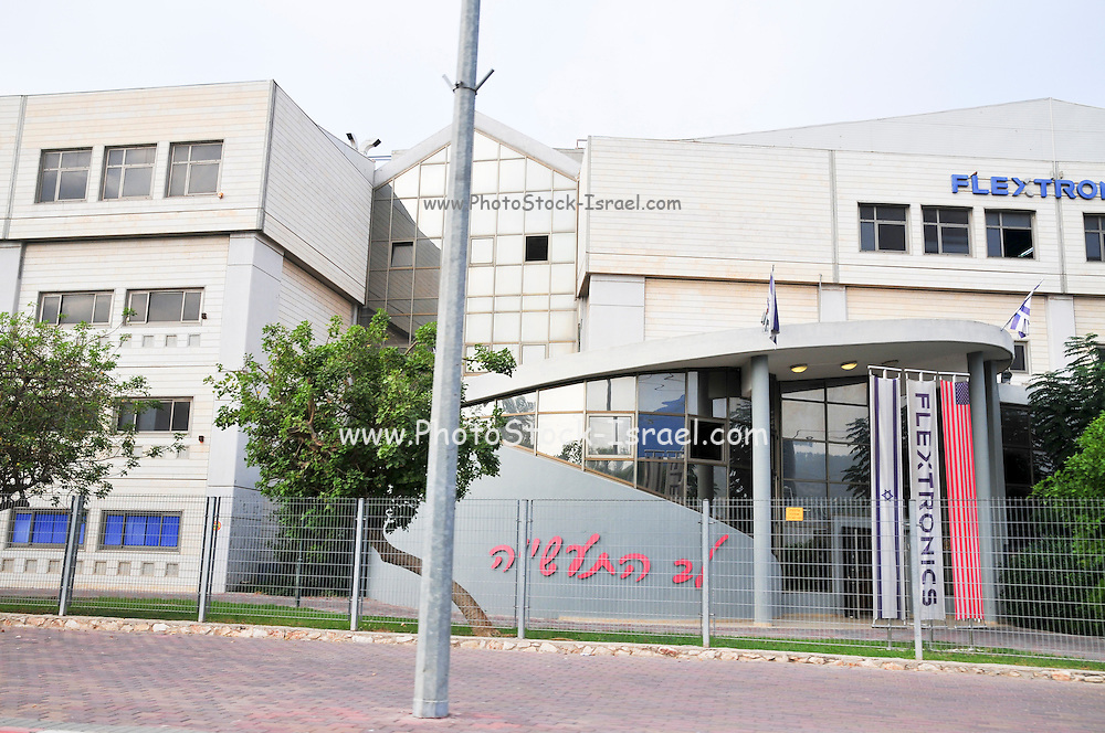 Israel, Galilee, Migdal HaEmek Industrial Zone FLEXTRONICS. A leading electronics manufacturing services provider to the world's top technology brands main manufacturing plant