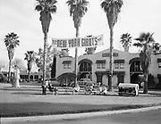"Ackroyd 00580-1. ""Autopia, Phoenix, Arizona. Mel Ott. March 1, 1948"" (New York Giants staying there. Motel at 3901 East Van Burien, Phoenix, Arizona.)"