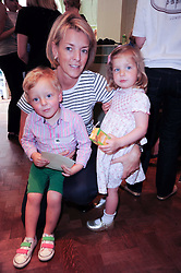 FIONA DREESMAN and her children BERNARD & CHLOE at Papillon Shoes Enchanted Tea Party Store Launch 98 Marylebone Lane, London W1 on 25th May 2010.