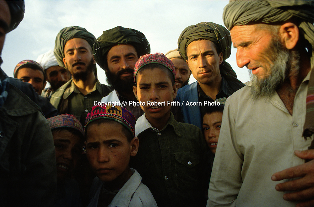 Group of men and boys in turbans