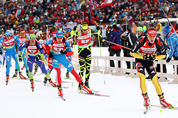 11.12.2011, Biathlonzentrum, Hochfilzen, AUT, E.ON IBU Weltcup, 2. Biathlon, Hochfilzen, Staffel Herren, im Bild Schempp Simon (Team Germany) Jay Vincent (Team France) Shipulin Anton (Team Russia) // during Team Relay E.ON IBU World Cup 2th Biathlon, Hochfilzen, Austria on 2011/12/11. EXPA Pictures © 2011. EXPA Pictures © 2011, PhotoCredit: EXPA/ nph/ Straubmeier..***** ATTENTION - OUT OF GER, CRO *****