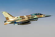 Israeli Air Force (IAF) F-16I Fighter jet in flight  -- Portal Editing Team selected this image for Photolibrary RM.