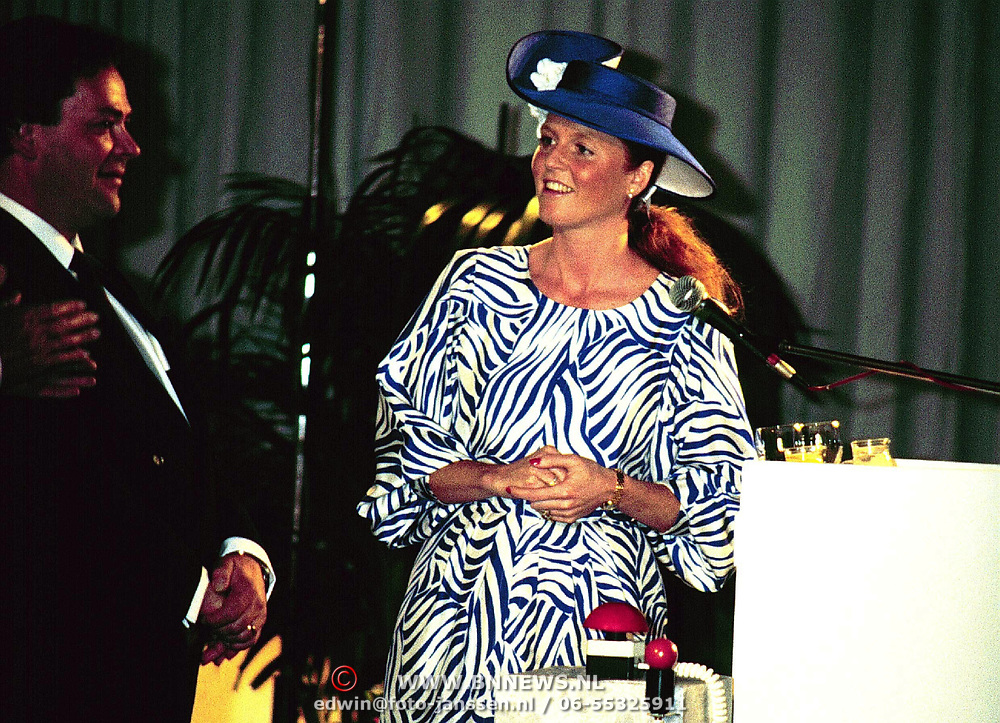FILEPHOTO EINDHOVEN THE NETHERLANDS  Duchess of York Sarah Ferguson, ex wife of prince Andrew og Engeland, at the opening of the headoffice of Laura Ashley at Eindhoven Airport in Holland.