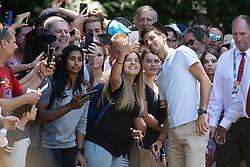 MELBOURNE, Jan. 28, 2019  2019 Australian Open Champion, Novak Djokovic of Serbia, poses for selfies with his fans at the Royal Botanical Gardens in Melbourne, Australia on Jan. 28, 2019. (Credit Image: © Elizabeth Xue Bai/Xinhua via ZUMA Wire)